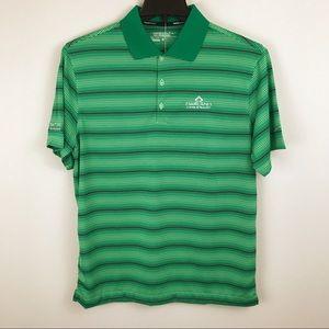 Nike Golf Mens Dri Fit Green Striped Polo Shirt M